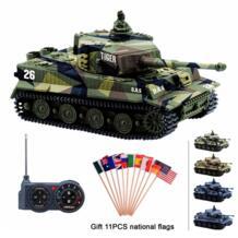 RC Танк Германия Тигр я Красочные 1: 72 Яркий Высокая Имитация Великой стены 2117 мини дистанционное управление игрушка AOSST 32863483920