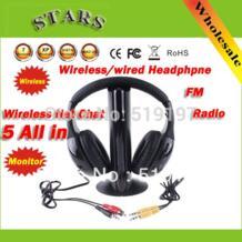 5 в 1 HIFI Беспроводной наушники гарнитуры Беспроводной монитор FM радио для MP4 PC ТВ аудио No name 1002142189
