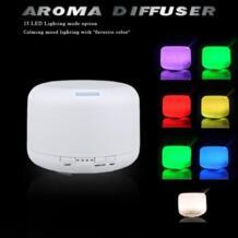 GRTCO 500 мл 15 цветов Изменяемая светодиодный свет аромат эфирного масла диффузор ультразвуковой увлажнитель воздуха туман чайник для дома и Спальня No name 32569595113