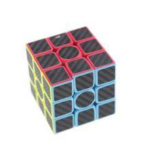 3x3x3 магические кубики из углеродного волокна, игрушка-головоломка, детская Подарочная игрушка для молодых взрослых, профессиональная инструкция, ведро рубиков HAPPY MONKEY 32971769918