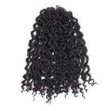 """Qp волос предварительно твист крючком синтетические волосы Extensions1 пакеты ombre канекалон вязанная косами 2X искусственная locs вьющиеся волосы 24"""" 30 нитей No name 32829570334"""