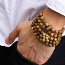 108*0,8 Verawood четки тибетского буддизма деревянный браслет Мала браслет Будда ожерелье-четки украшение HAEQIS 32259209172