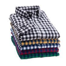 2019 Новая Осенняя брендовая мужская клетчатая рубашка мужская теплая рубашка с длинными рукавами плюс размер Молодежная офисная деловая Повседневная рубашка мужская EYM 32598030307