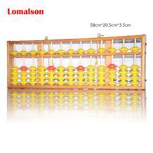 Abacus Обучающие ресурсы 13 Колонка китайский соробан Caculator классические деревянные развивающие счетные игрушки Математика Обучение Lomalson 32826256228