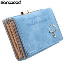 Для женщин зонтик искусственная кожа клатч Trifold бумажник кредитной держатель для карт Розничная/оптовая продажа 73PO SANWOOD 32378211569