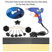 Универсальный инструмент для ремонта автомобиля 17 шт. вмятин Съемник комплект с термоклеем пистолет для клея палочки для ремонта кузова автомобиля вмятин KKMOON 32835070100
