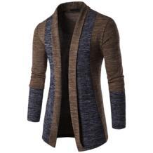 2019 модный мужской кардиган высокого качества осень зима мужские свитера с длинным рукавом хит цвета пальто сшивание цвет теплый трикотаж Asstseries 32909938387