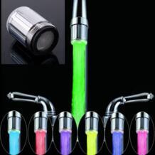 2018 Новый Светодиодный водопроводный кран поток света 7 цветов автоматически изменяющееся свечение насадка для душа кухонный датчик давления No name 32659365516