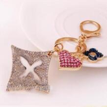 Модный высококачественный Полный Стразы Клевер замок сумка и автомобильный брелок для женщин и мужчин оптом в розницу Charmcci 32223895286