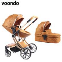 Voondo детская коляска bebek arabasi carrinho de bebe cochecito детская коляска bebe коляска высокий пейзаж подходит для зимних путешествий Pouch 32949698817