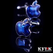 Роскошные рубашка запонки для мужской бренд манжеты Bouton Manchette синий фрукты Запонки Высокое качество abotoaduras ювелирные изделия Kflk 32244137280