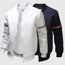 Спортивная Мужская ветровка Баскетбол футбольная куртка ленты белый спортивное пальто для мужчин курточка бомбер плюс размеры 3XL 823123 No name 32830645246