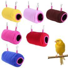 Теплый утолщенный Птица Попугай гамак цилиндрический Птичье гнездо для попугай птица мягкая плюшевая палатка кровать двухъярусная игрушка висячее дупло одноцветное winnereco 32921590523