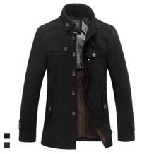 Высокое качество для мужчин шерсть пальто дизайнер Мода Стенд воротник плюс размеры бизнес повседневное шерстяное пальт AOWOFS 32839601423