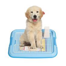 Прочный Крытый сетка собака туалет лоток Пластик собака туалет для щенка тренер кошка собачья подстилка Туалет поле для маленьких собак Pet питания 48 см No name 32918628130