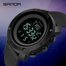 SANDA водонепроницаемые мужские военные спортивные часы модные электронные часы для мужчин многофункциональный светодиодный цифровые часы уличные relojes hombre Bounabay 32651708617