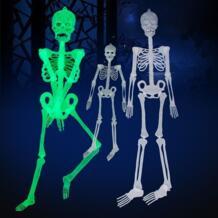 90 см Хэллоуин обманывать Скелет украшения бар КТВ ужас светящийся Скелет световой меблировки игрушка подарок-сюрприз No name 32843090016