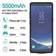 Внешний Назад Запасные Аккумуляторы для телефонов Батарея Портативный Зарядное устройство зарядки чехол для Samsung Galaxy Note 8 с USB кабель Kinganda 32836310022
