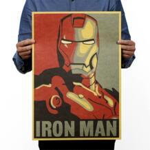 Герой Marvel Железный человек оберточная бумага в винтажном стиле классический постер фильма школьный Декор художественное оформление стен Офис школа DIY Ретро принты No name 32693057281