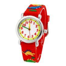 Бесплатная доставка Розничная торговля; Лидер продаж подарок высококачественный динозавров с объемным рисунком для маленьких мальчиков Студенты Наручные часы Zien 32762286044