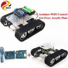Wi-Fi, умный робот бак шасси с двойной двигатель постоянного тока + ESPduino развитию + мотор драйвер платы для DIY Arduino проекта T100 SZDoit 32879588702