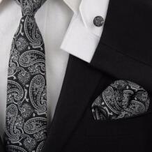 Новинка мужские галстуки года 2019 взрослых набор галстуков Запонки hankies галстук носовые платки Hooyi 32525165382