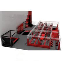 Новый дизайн экологичный коммерческий для взрослых крытая площадка батут, дети Батут парк с ниндзя курс YLW-BT180318 No name 32858951636