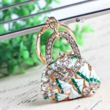 Новые модные женские сумки Цветочный Кристалл Шарм кошелек сумочка ключа автомобиля брелок для ключей вечерние свадебные подарок на день рождения YIXUNTONG 32270022515
