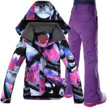GSOU зимний женский лыжный костюм Сноуборд костюм куртка + брюки водонепроницаемая ветрозащитная одежда для женщин Зимняя одежда Бесплатная доставка-in Лыжные куртки from Спорт и развлечения on Aliexpress.com | Alibaba Group Gsou Snow 32807093698