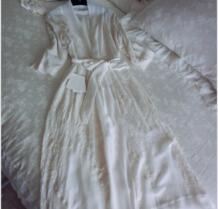 Модная Летняя женская белая длинная одежда для сна королевская ночная рубашка с вышивкой принцесса тонкая ночная рубашка Шелковая пижама домашняя одежда Chimavvi 32782617433