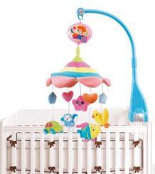 Мягкая ткань погремушки новорожденных Игрушки для малышей мобильности на кровать вращающимся Музыкальная Отдых земли кровать колокол детские 0- 12 месяцев IF 32719439873