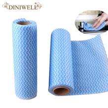 DINIWELL многоцелевой Roll полотенце нетканого полотна ткани вытирая чистки для дома кухня для офиса Авто кухонное Ткань Cleaner No name 32473698379