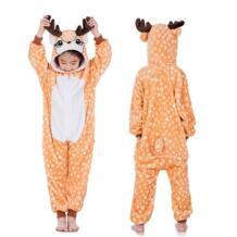 С принтами звездочек единорога Пижама Kigurumi Onesie Дети животных тапочки с единорогом, панды, Косплэй для девочки; на лямках; пижамный комплект для девочки Комбинезоны для мальчиков LUOYIMENG 32915067644