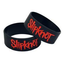 OneBandaHouse 25 шт./лот Slipknot силиконовые браслеты отличная альтернатива Стиль тяжелый металл музыка браслет No name 32474190143