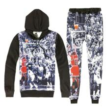 Хит продаж, 2 шт. комплект для мужчин и женщин повседневные спортивные костюмы 3D принт Air Jordan Buzzer Beater толстовки с капюшоном + штаны Толстовка спортивный костюм Devin Du 32847904129