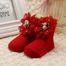 Девочки весна осень милые малыши Младенцы Хлопок лодыжки лук носки детские принцесса стиль бантом кружевные носки с цветами WEIXINBUY 32833663659