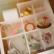 Лидер продаж 2 x делитель ящика пластик DIY хранения организатор предметы домашнего обихода белый ящик разделитель сетки No name 32857654266