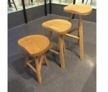 Минималистский современный Дизайн твердой древесины дуба барный стул низкий табурет счетчик табурет Кухня Высокая полный деревянный Гостиная обувь стул No name 32845291208