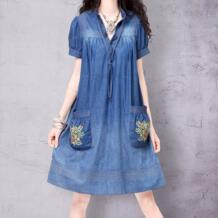 ретро женская летняя одежда v-образным вырезом рукав три четверти с поясами облегающее высококачественное элегантное шифоновое платье с кружевой SN14034X Artka 1689437804