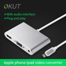 Okut Lightning/HDMI, VGA, аудио адаптер для Iphone5/5S/5C/6/6 s/6 пульс iPad Pro 9.7 Ipad Air2 Ipad AIR Бесплатная доставка-in Кабели HDMI from Бытовая электроника on Aliexpress.com | Alibaba Group FLY-TIMES 32805238240