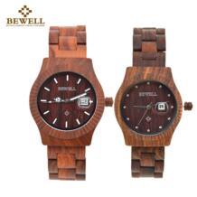 Деревянные парные кварцевые часы для любовника подарок с календарем Lumious Hands мальчики девочки часы Топ Роскошные часы водостойкие 064AL Bewell 32798515273