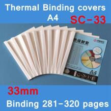 [Readstar] 10 шт./лот SC-33 термопереплет охватывает A4 вязка клея крышка 33 мм (280-320 страниц) тепловой машинной вязки крышка No name 32828088206