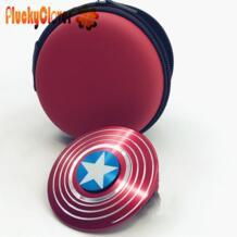1 шт. Капитан Америка щит Спиннер металлические ручной Спиннеры Marvel Топ Спиннер игрушки Beyblade Супергерои металлик Vinger Gyro PluckyClover 32821307480
