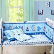 Детский бампер в кроватку для новорожденных из хлопка и льна, детская кровать, люлька, бамперы подушечка, мягкий и Стеганый Полный объемный No name 32808520746