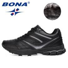 новый популярный стиль мужские кроссовки на шнуровке спортивная обувь для улицы прогулочные беговые кроссовки Удобная спортивная обувь для мужчин BONA 32737907914