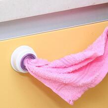 Ванная комната настенное полотенце пластиковое моющее полотенце петли подвесные присоски держатель на присоске для кухни ванной полотенцесушитель стойки No name 32814328116