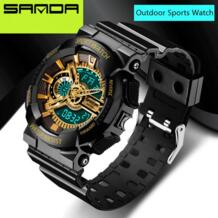 2016 Новинка бренд Санда часы Для мужчин s светодио дный цифровые часы G Стиль часы Водонепроницаемый Спорт Военная шок часы для Для мужчин relojes hombre Sanda 32625706779
