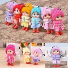 1 шт.. случайный цвет 8 см решетка клоун запутанная Кукла мобильный телефон кулон милый мультфильм дети мини куклы игрушка бесплатная доставка No name 32958048894