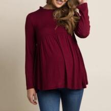 2019 Новая женская рубашка ropa de mujer Одежда для беременных мам Одежда для кормящих мам полосатые футболки с длинными рукавами одежда jurk MUQGEW 32964990270