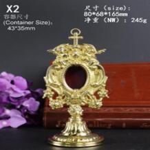 Высокое качество Ostensorium Monstrance медная святая коробка с изображением католической святыни Изысканная изящество красивый благородный святой Иисус reliquary Christ No name 32860898895